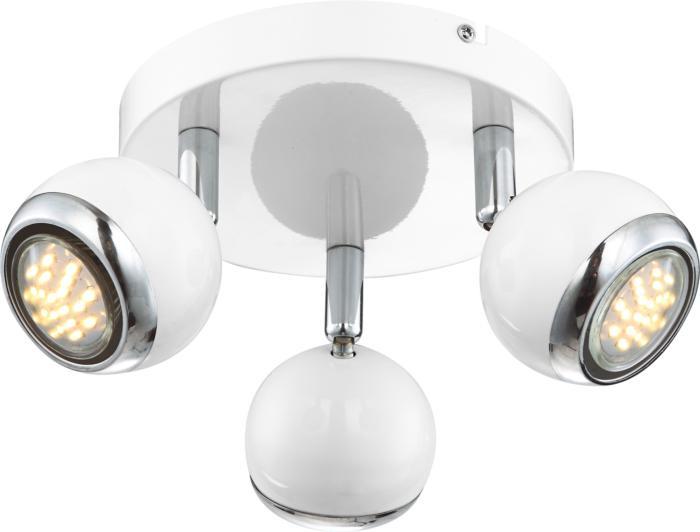 Настенно-потолочный светильник Globo New 57882-3, серый металлик спот globo oman 57882 2