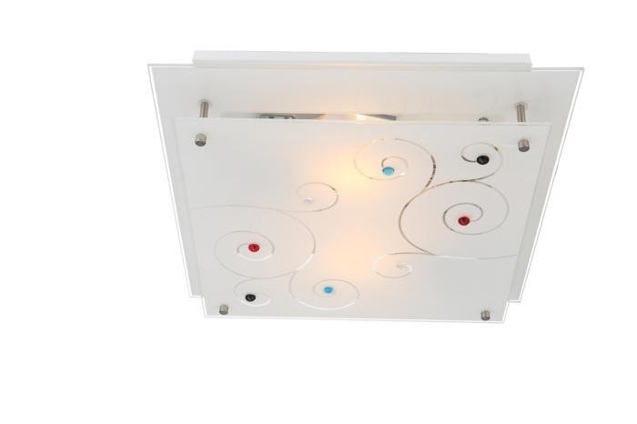 Настенно-потолочный светильник Globo New 48140-2, серый металлик