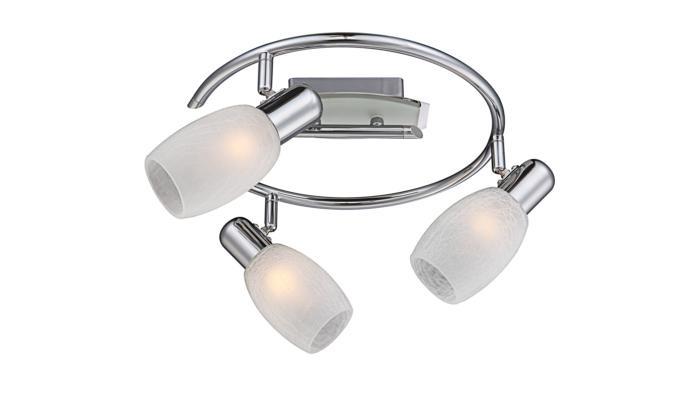 Настенно-потолочный светильник Globo New 54917-3, серый металлик цена