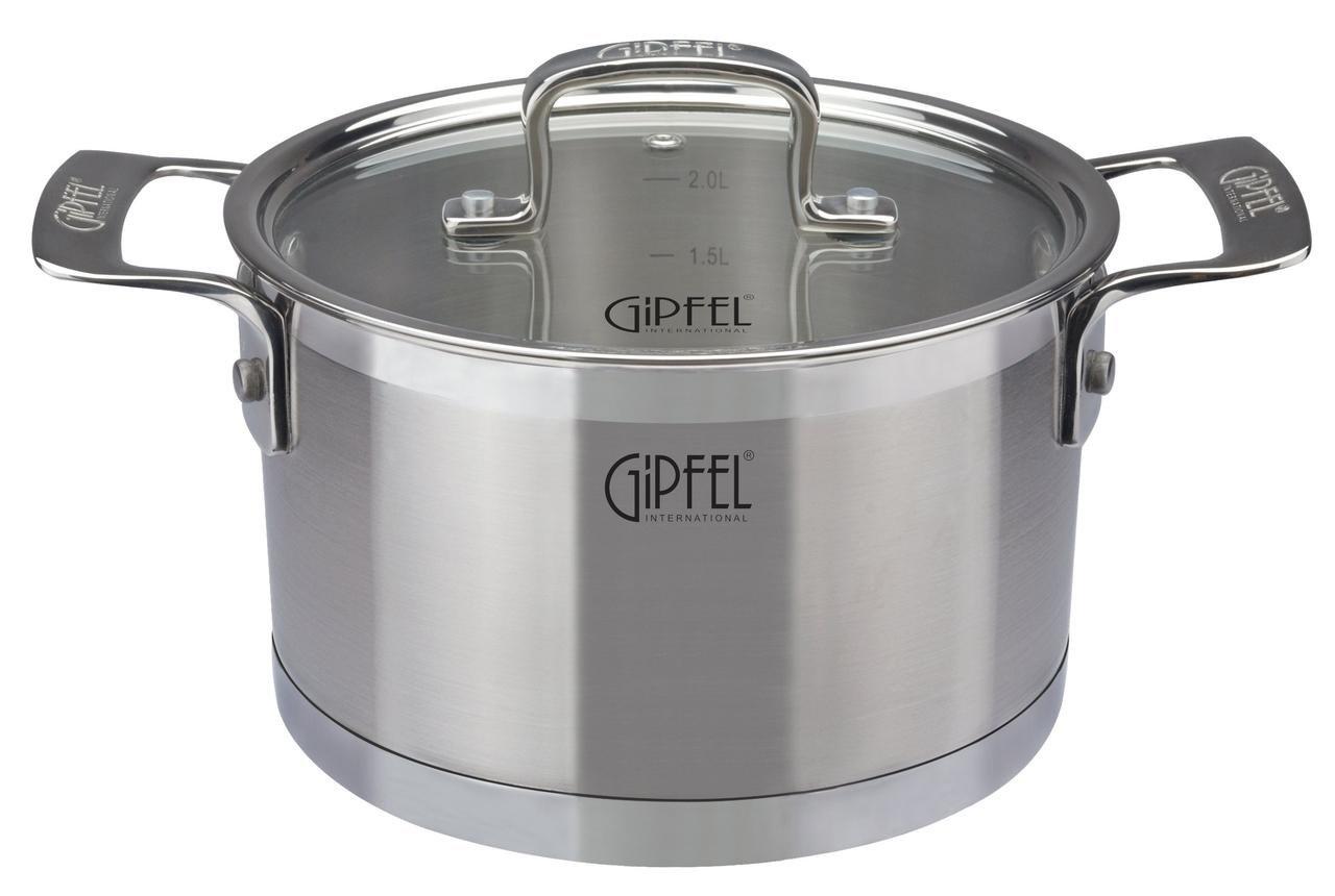 Кастрюля GIPFEL 1234 кастрюля с крышкой gipfel mini