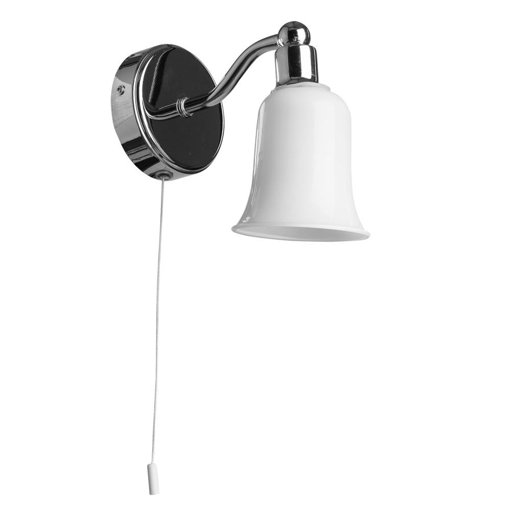 Бра Arte Lamp A2944AP-1CC, серый металлик светильник для влажных помещений arte lamp aqua a2944ap 1cc