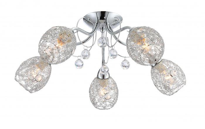 Потолочный светильник Globo New 56689-5, серый металлик люстра потолочный светильник аврора бунгало 10014 5l