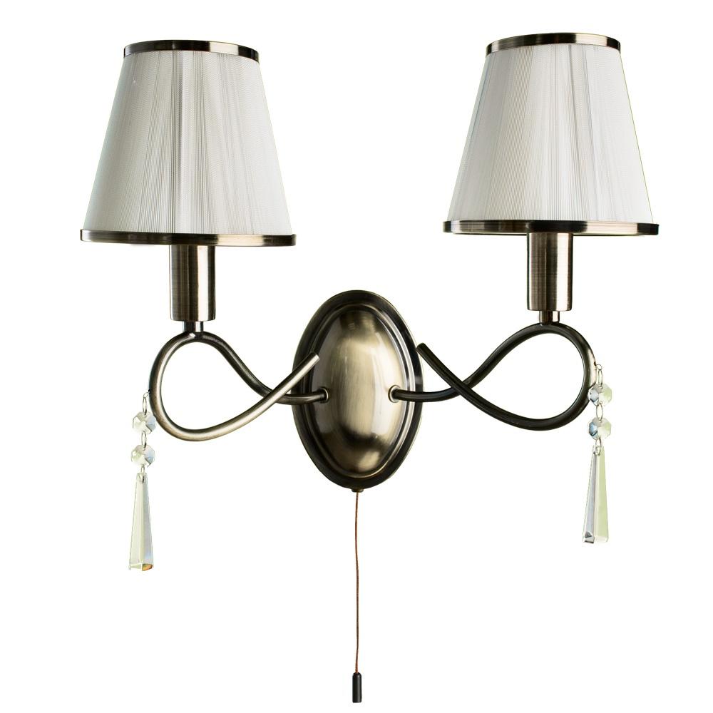 Бра Arte Lamp A1035AP-2AB, E14, 40 Вт бра arte lamp logico a1035ap 2cc