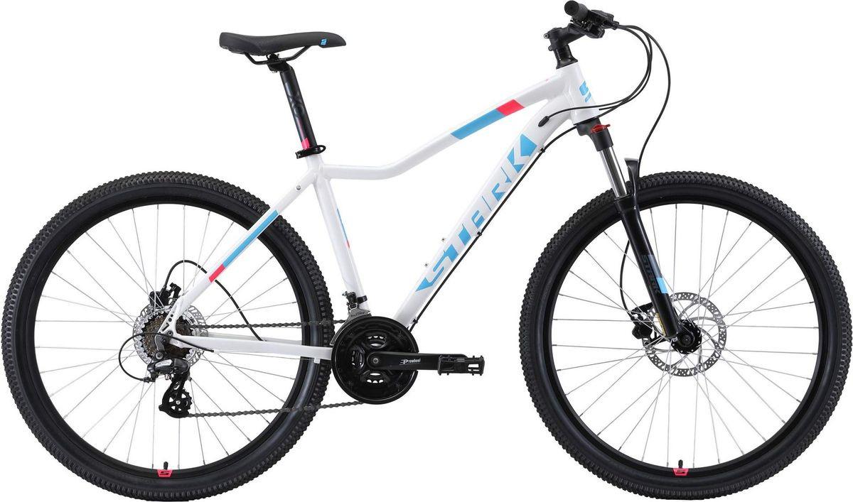 Велосипед женский Stark'19 Viva HD, белый, голубой, розовый, диаметр колес 27.5, размер рамы 16 велосипед stark viva 27 4 hd 2019