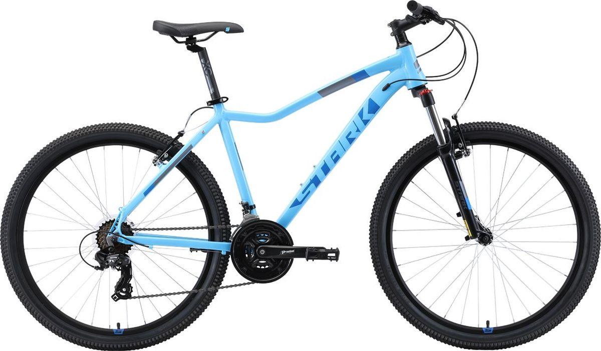 Велосипед женский Stark'19 Viva D, белый, голубой, оранжевый, диаметр колес 26, размер рамы 18 велосипед stark viva 27 4 hd 2019