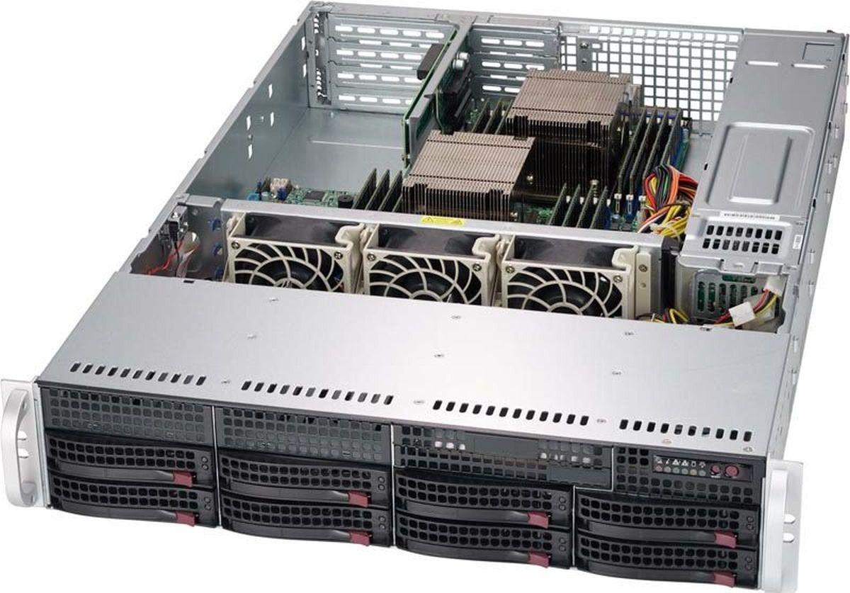 Корпус SuperMicro CSE-825TQ-R740WB, черный cse 825tq r740lpb