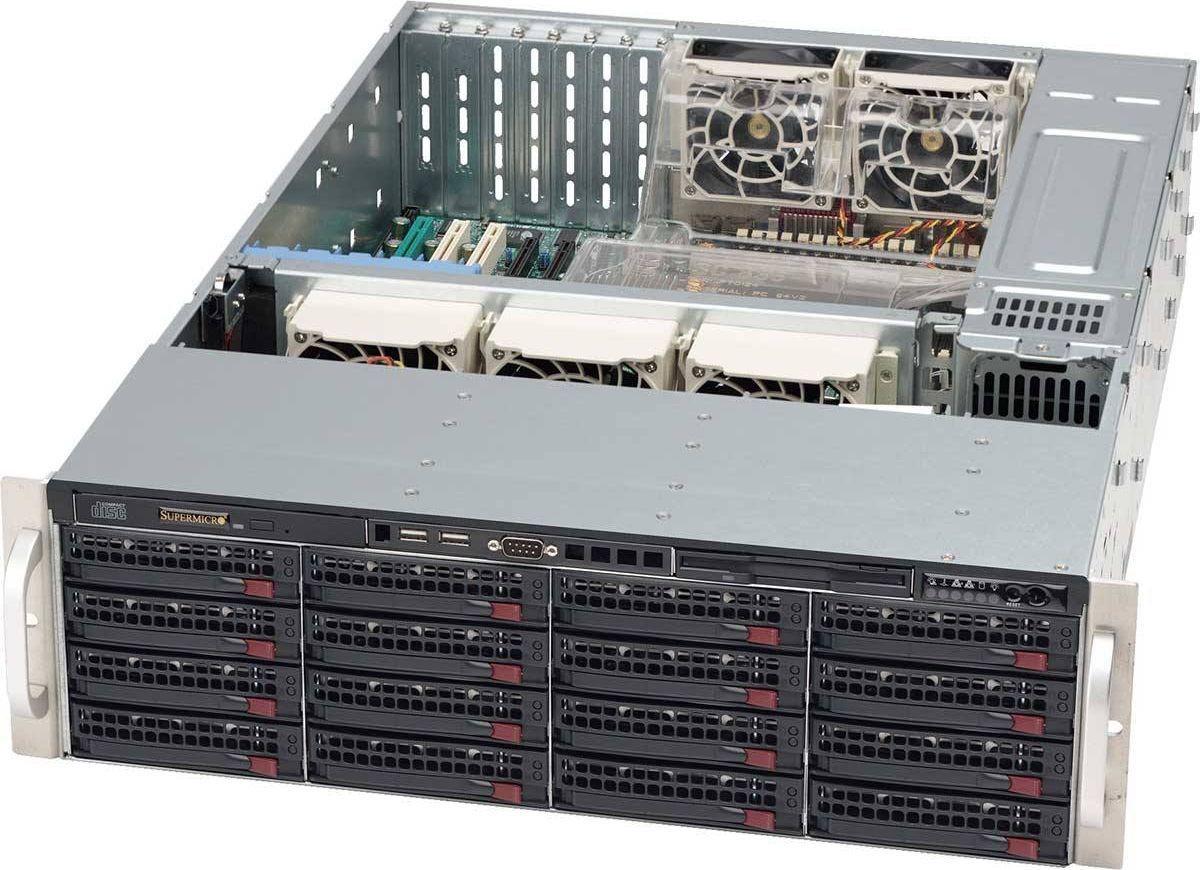 Корпус SuperMicro CSE-836BE26-R920B, черный корпус для сервера 1u 400w cse 515 r407 supermicro