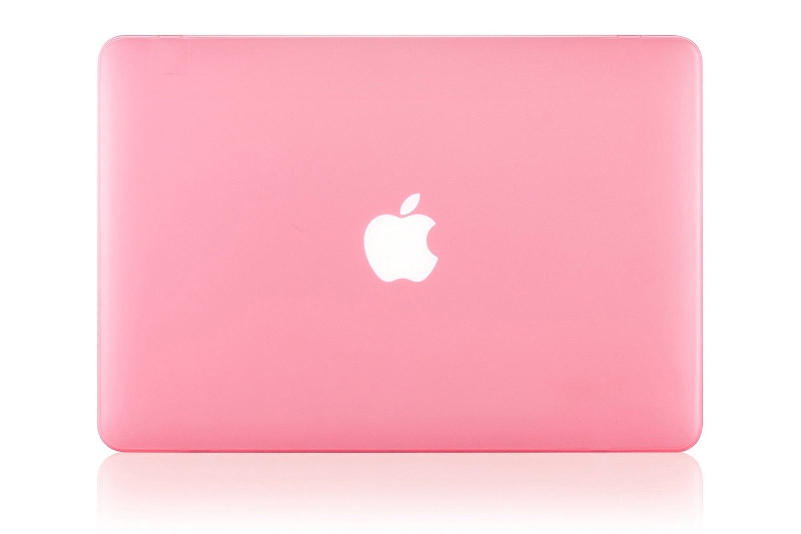 """Чехол для ноутбука Gurdini накладка пластик матовый 220083 для Apple MacBook Retina 15"""" 2012-2015, розовый"""
