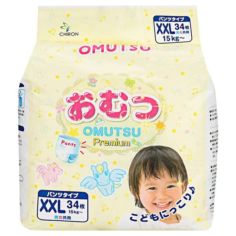 цена OMUTSU Подгузники-трусики детские ХXL (ОТ 15 кг), 34 шт. онлайн в 2017 году