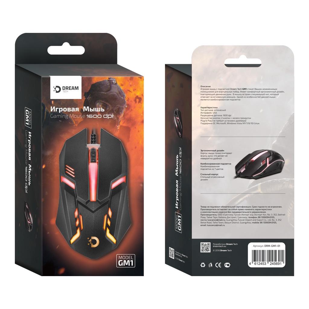 Игровая мышь DREAM DRM-GM1-01, черный lacywear s 3 drm