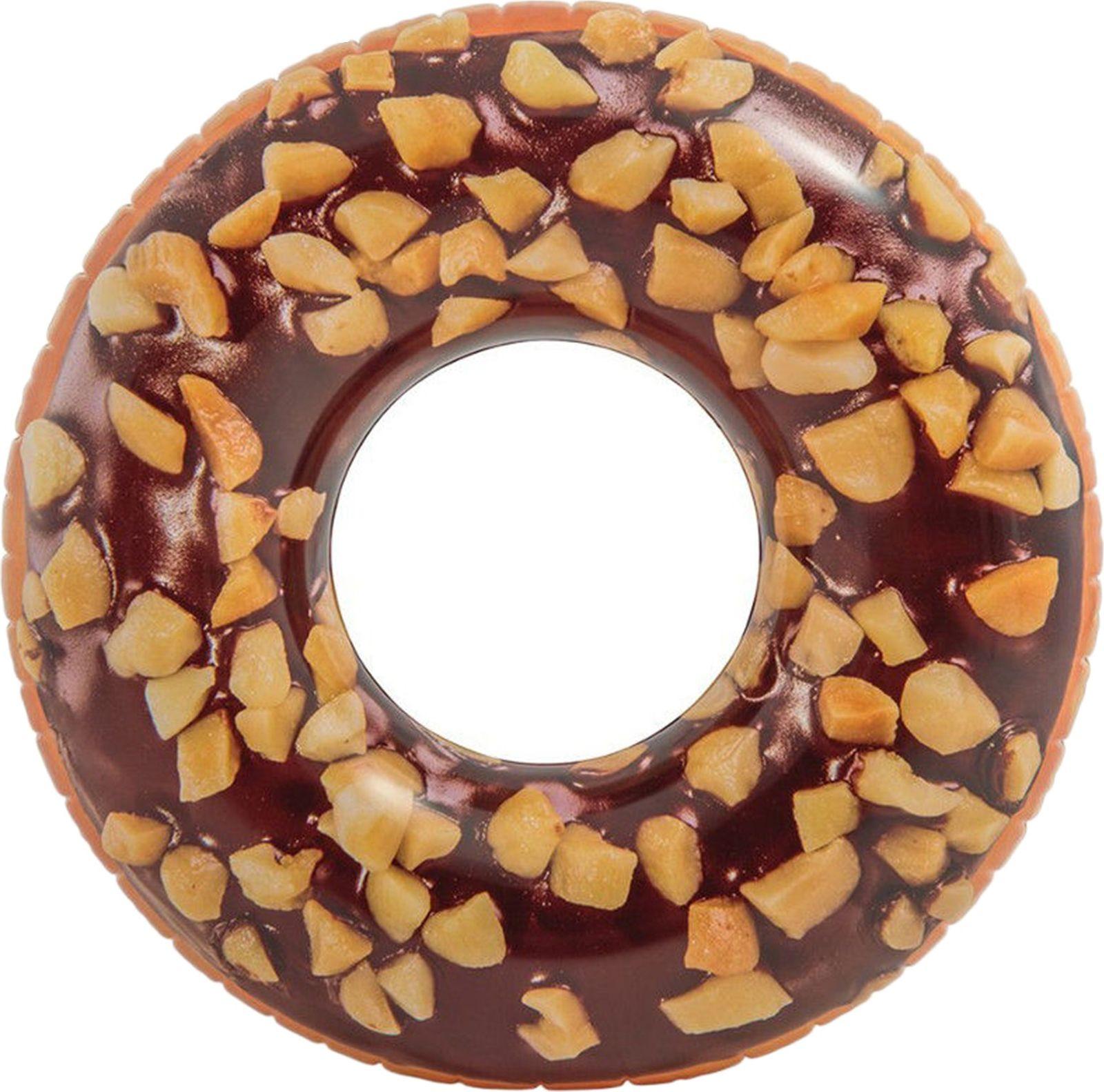Круг надувной Intex Пончик шоколад, 56262NP, диаметр 114 см цена