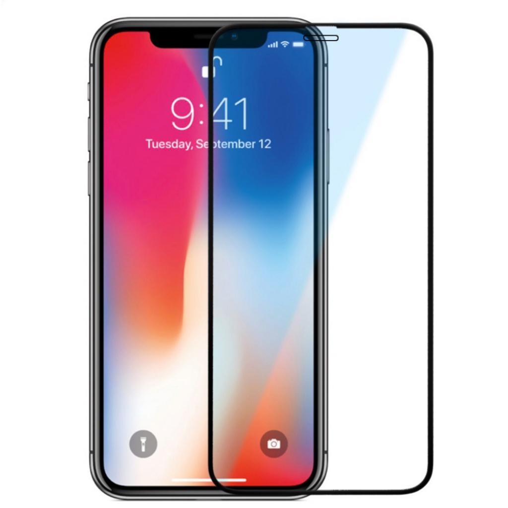 Защитное стекло 5D ТЕХПАК для iPhone X/XS, черный