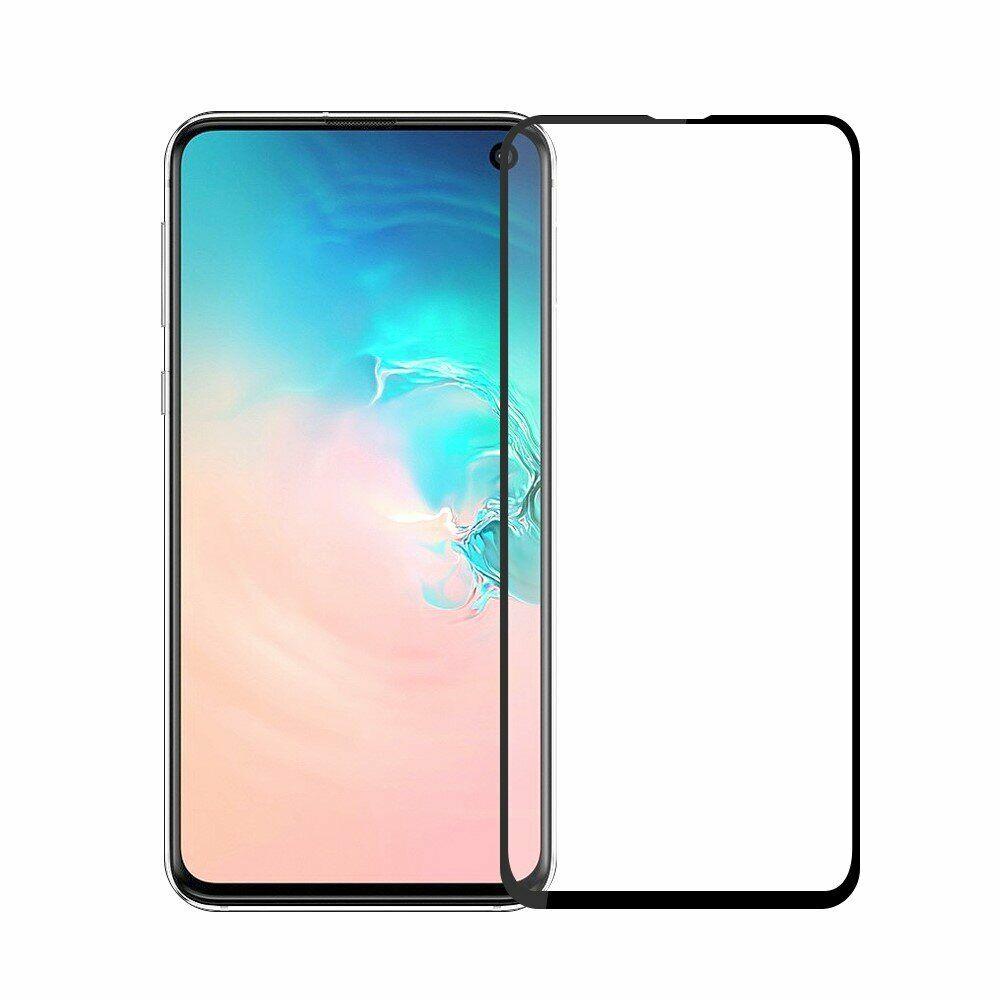 Защитное стекло ТЕХПАК 5D для Galaxy S10E, черный