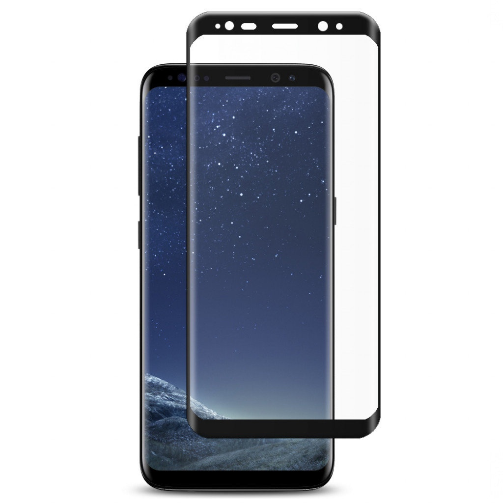 Защитное стекло ТЕХПАК 5D для Galaxy S9 PLUS, черный