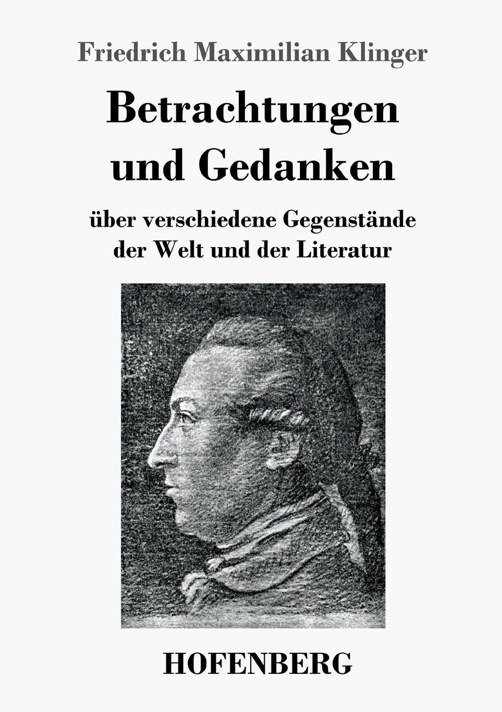 Friedrich Maximilian Klinger Betrachtungen und Gedanken willy pastor max klinger mit eigenhandiger zeichnung des kunstlers