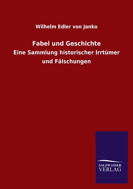 Wilhelm Edler Von B. 1835 Janko Fabel Und Geschichte