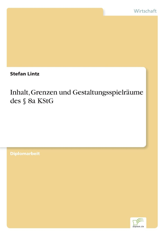 Stefan Lintz Inhalt, Grenzen und Gestaltungsspielraume des . 8a KStG sog sog ae 02