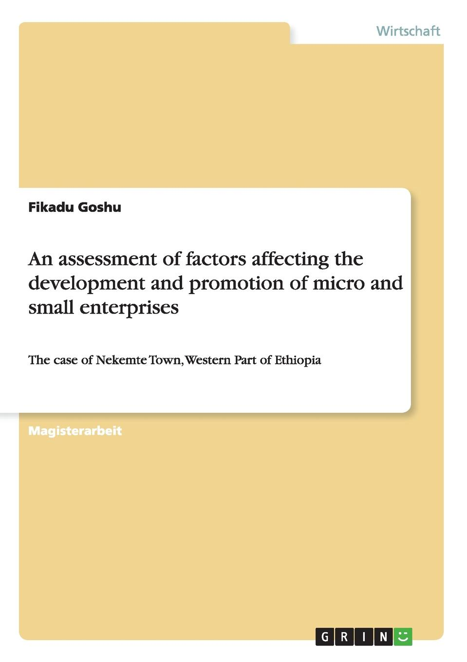 Fikadu Goshu An assessment of factors affecting the development and promotion of micro and small enterprises micro perspectives on poverty alleviation in kenya