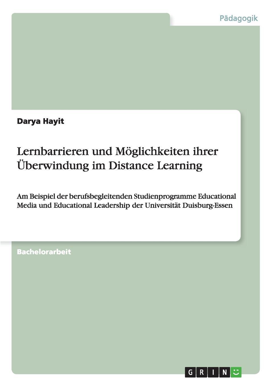 Darya Hayit Lernbarrieren und Moglichkeiten ihrer Uberwindung im Distance Learning