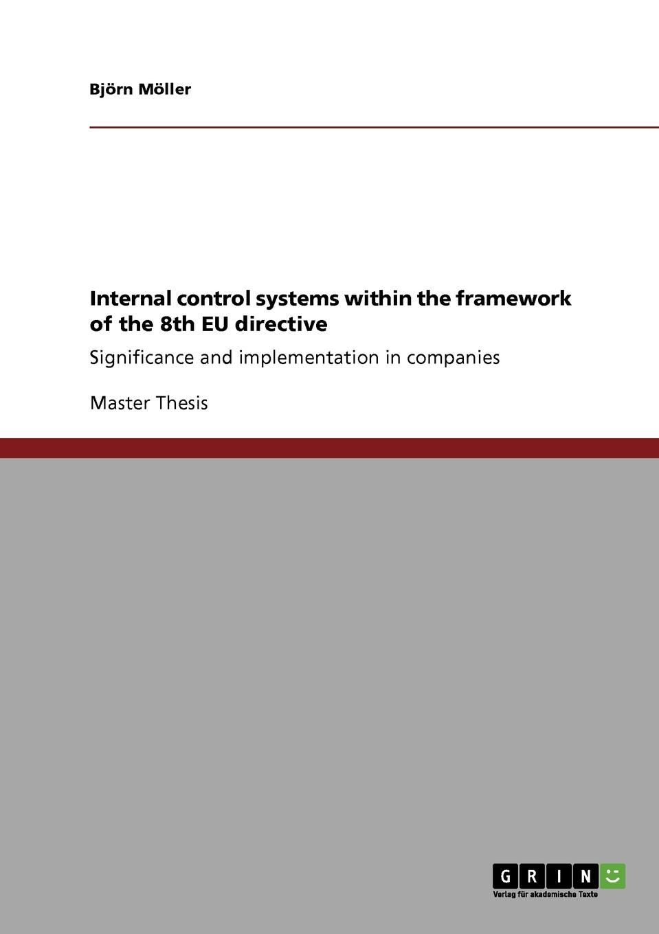 Фото - Björn Möller Internal control systems within the framework of the 8th EU directive agent based snort in distributed environment