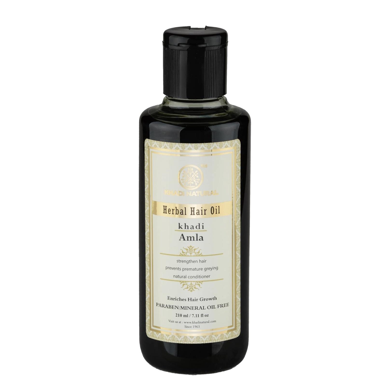 Амла масло для восстановления волос без парабенов и минерального масла Khadi Natural масло для волос хна розмарин амла indian khadi 200 мл