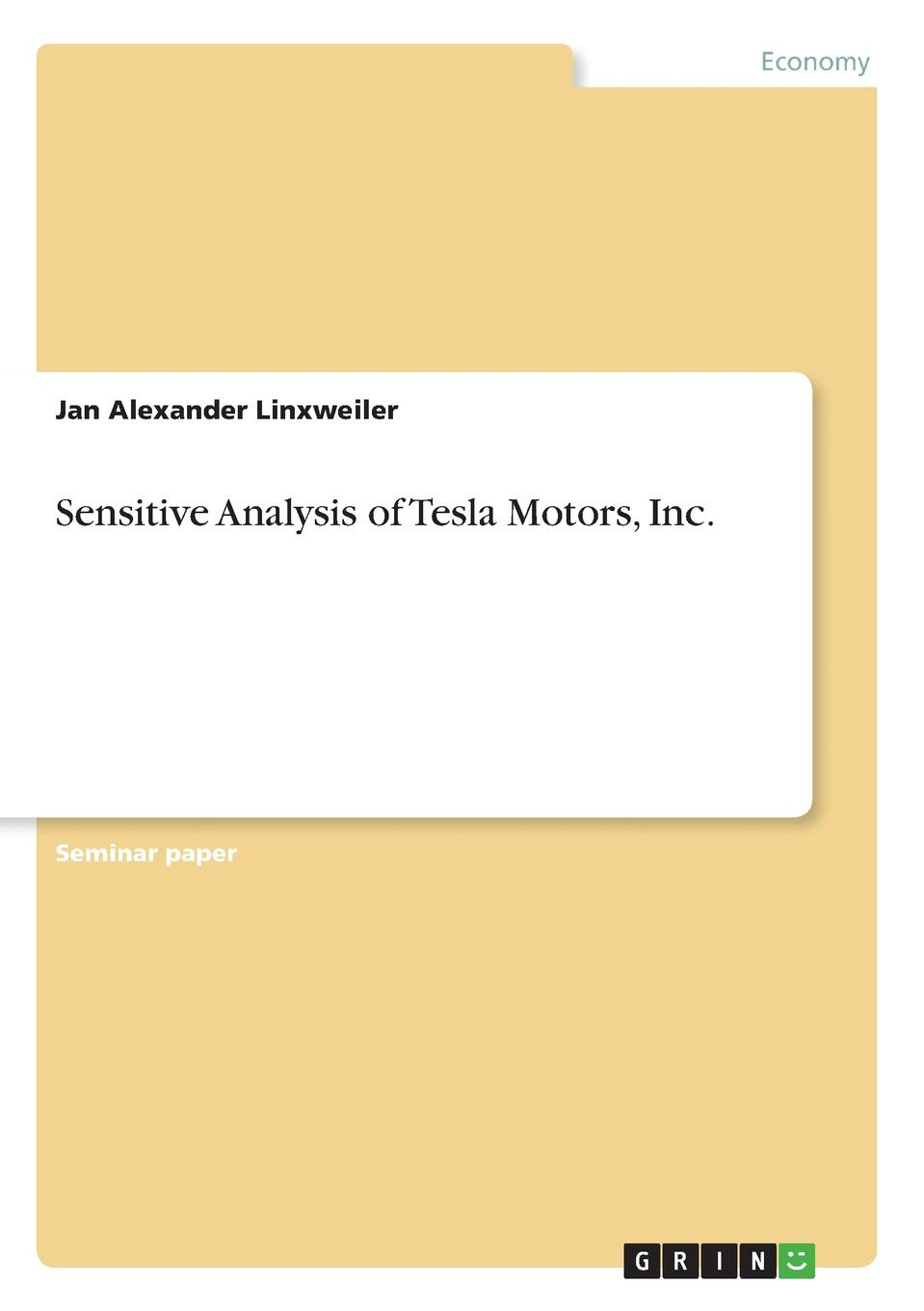 Sensitive Analysis of Tesla Motors, Inc. Seminar paper from the year 2017 in the subject Business economics...