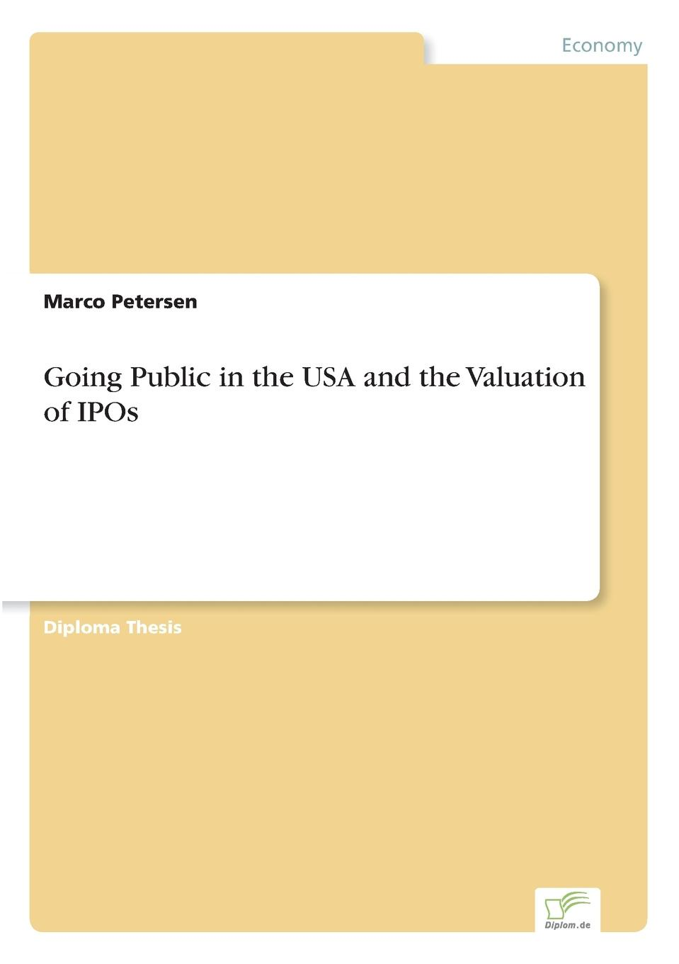 Marco Petersen Going Public in the USA and the Valuation of IPOs new in stock xws4815