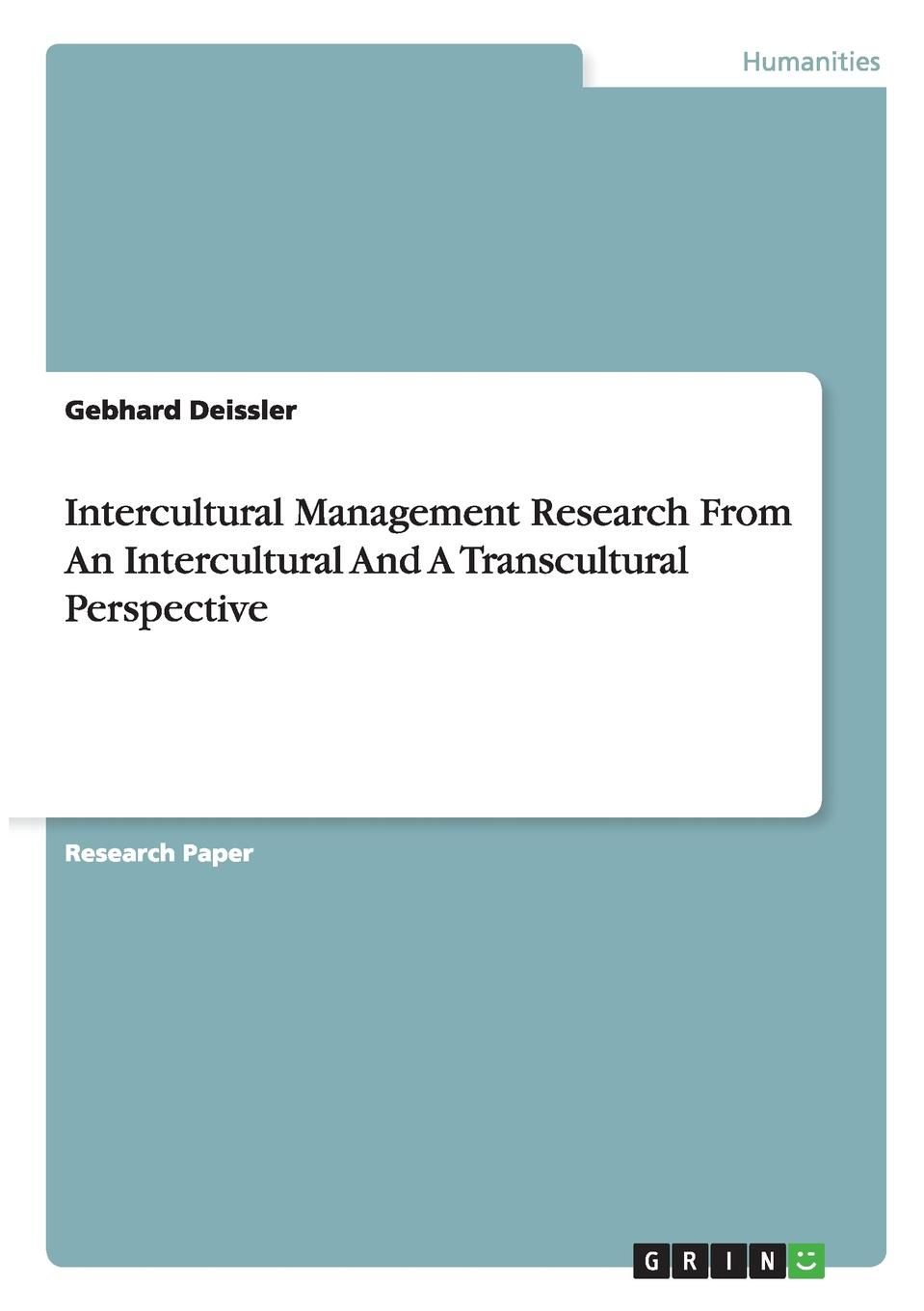 Gebhard Deissler Intercultural Management Research From An Intercultural And A Transcultural Perspective andreas hepp transcultural communication