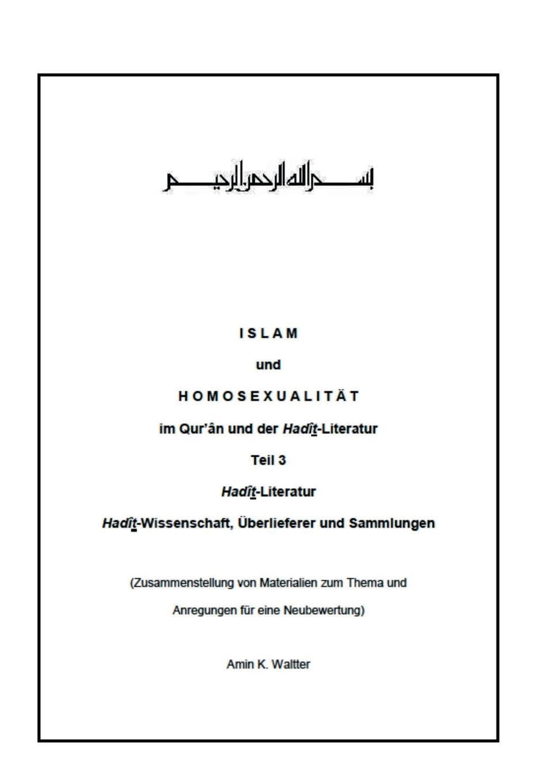 Amin K. Waltter Islam und Homosexualitat im Qur.an und der Hadit-Literatur eremitage geschichte der museumsgebaude und sammlungen