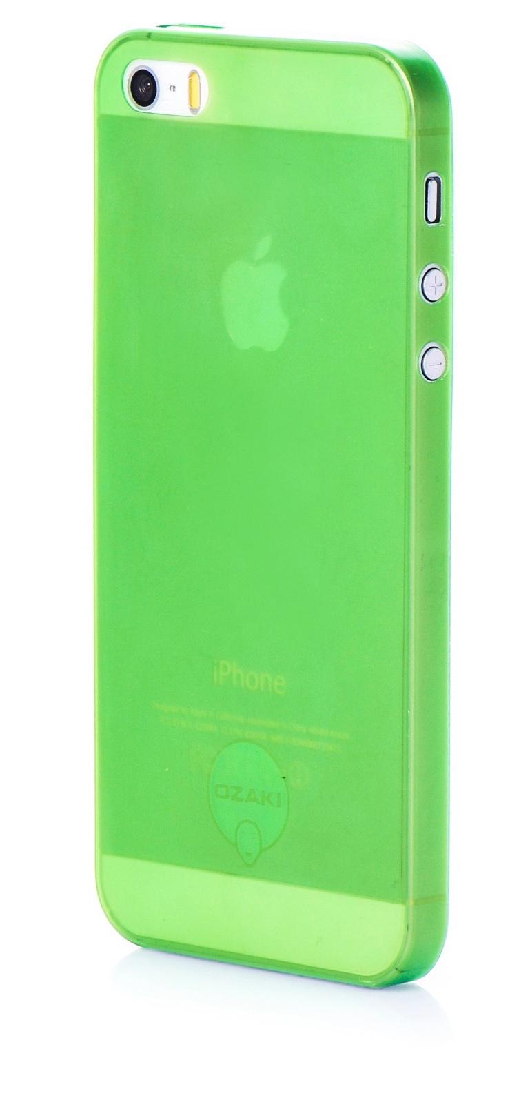 Чехол для сотового телефона Ozaki накладка пластик 0.3мм g для Apple iPhone 5/5S/SE, зеленый