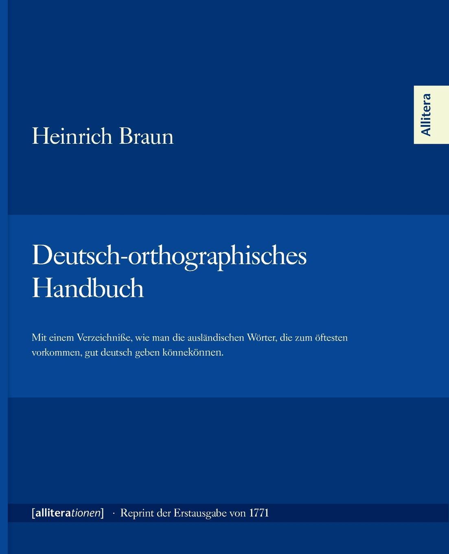 Heinrich Braun Deutsch-orthographisches Handbuch dawoud bey