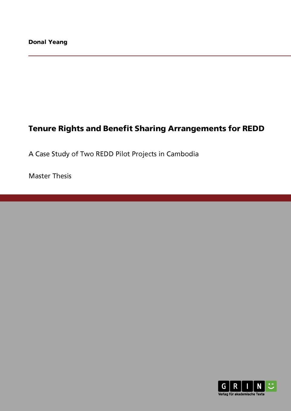 Donal Yeang Tenure Rights and Benefit Sharing Arrangements for REDD forest resource use by adjacent communities of mau forest complex