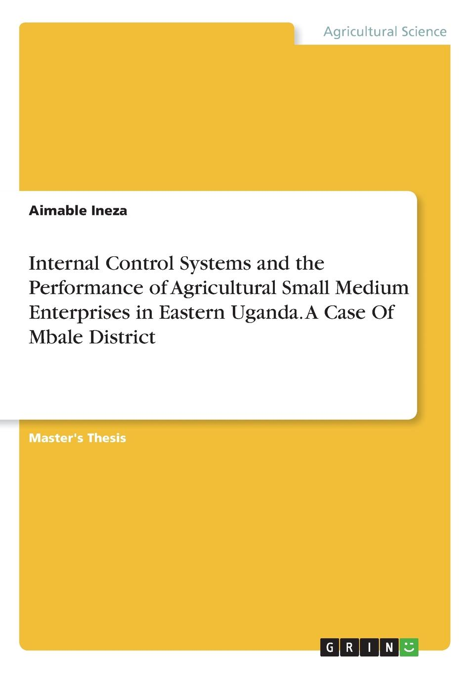 Aimable Ineza Internal Control Systems and the Performance of Agricultural Small Medium Enterprises in Eastern Uganda. A Case Of Mbale District socio economic determinants of performance of smes