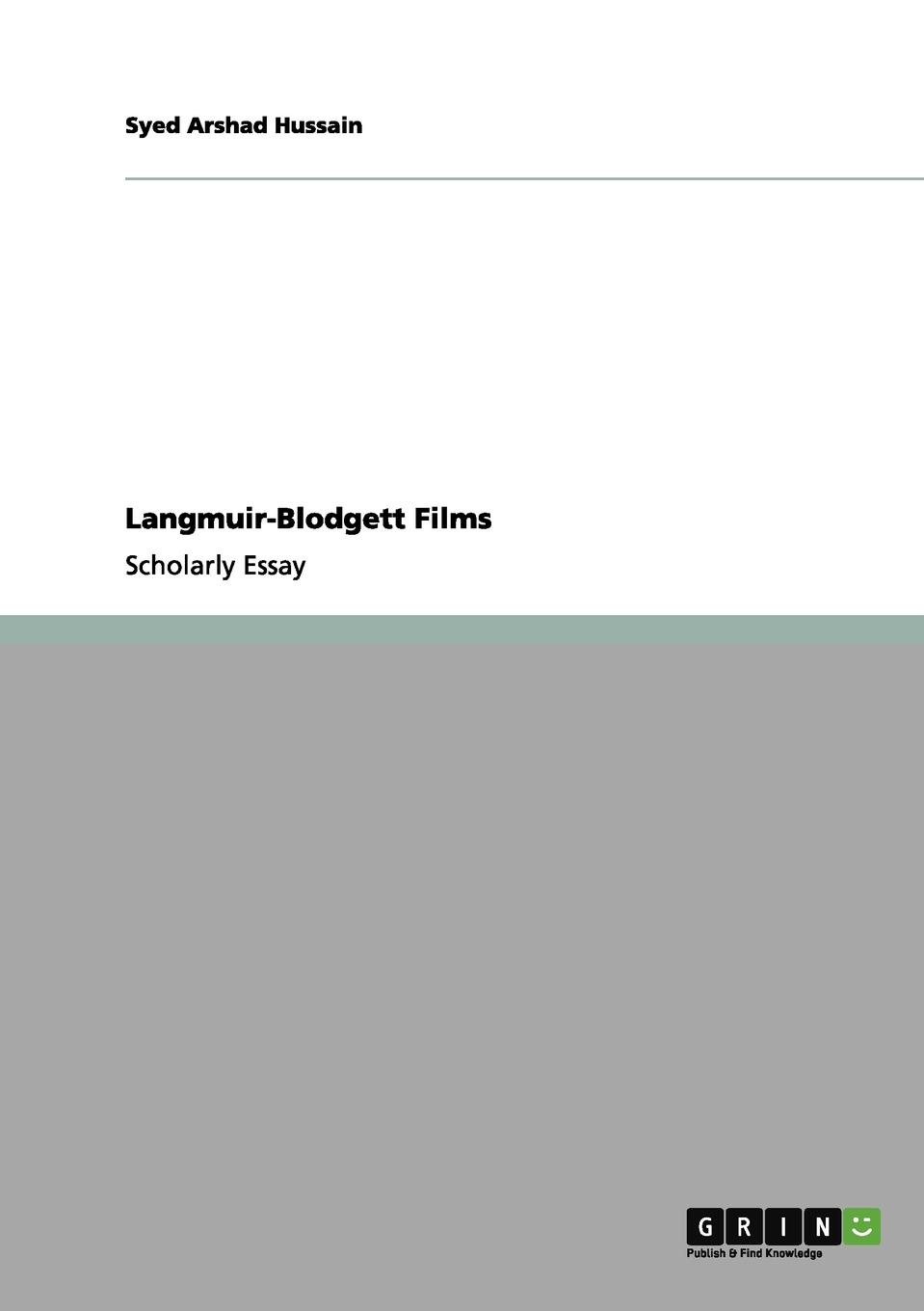 Syed Arshad Hussain Langmuir-Blodgett Films structure of matter