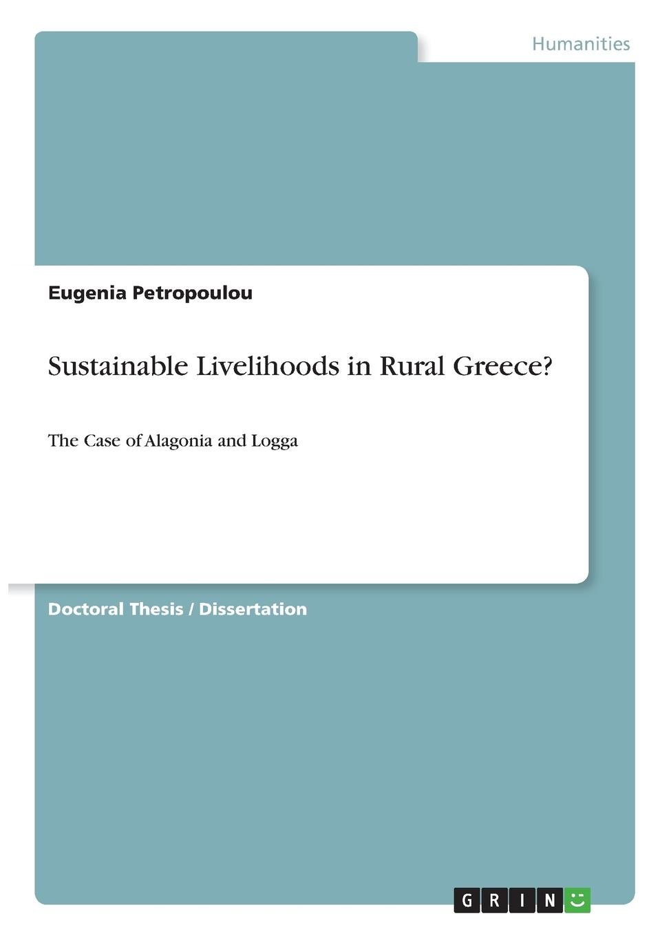 Εugenia Petropoulou Sustainable Livelihoods in Rural Greece.
