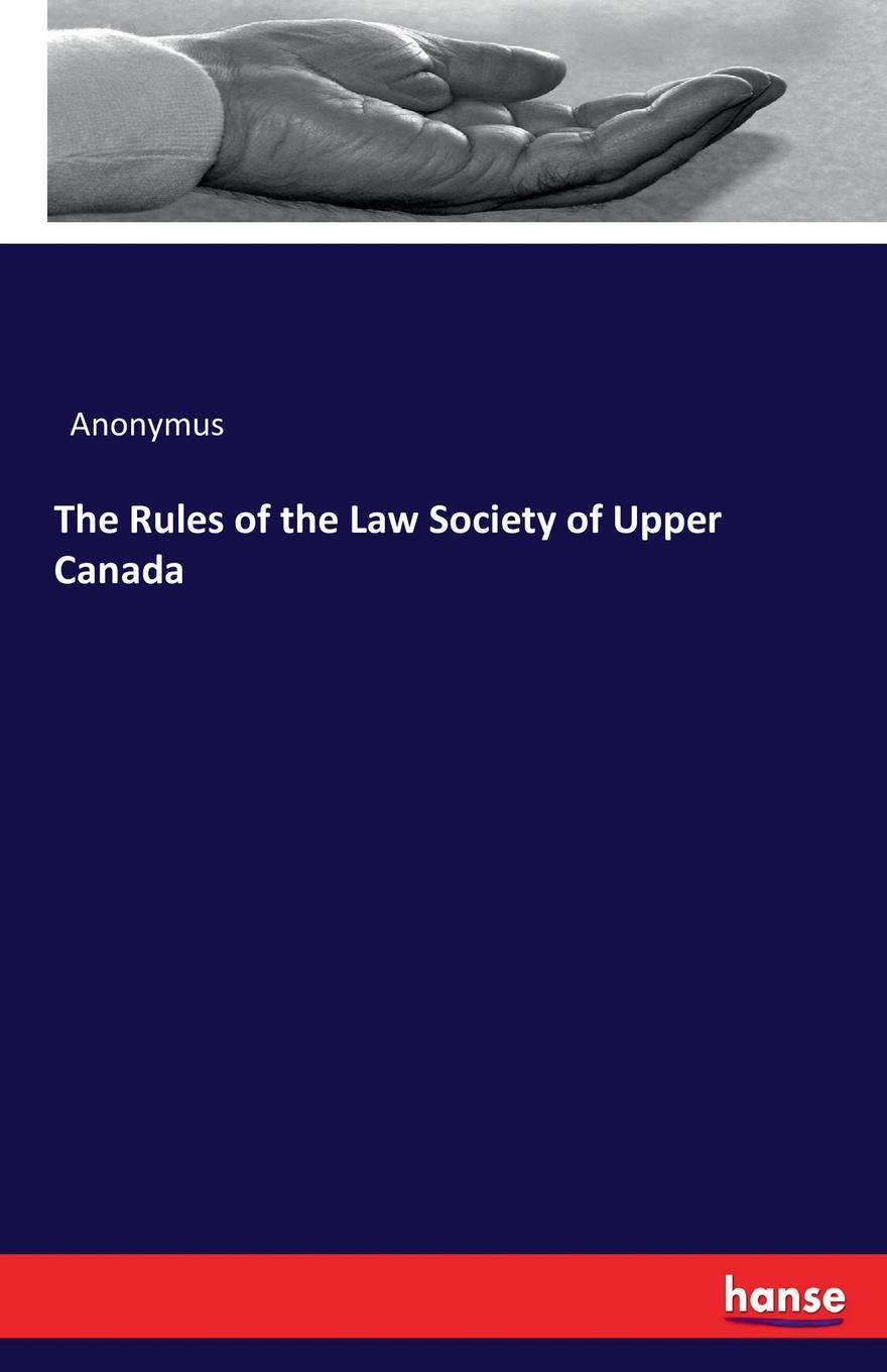 Anonymus The Rules of the Law Society of Upper Canada passive activity rules – law