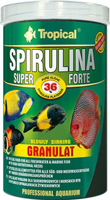 Корм для рыб Tropical Super Spirulina Forte Granulat, растительный, с высоким содержанием водорослей, гранулы, 550 г