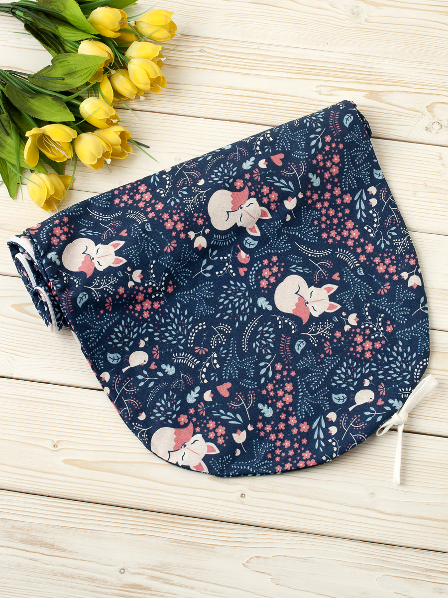 Чехол для подушки беременных AmaroBaby Лисички, AMARO-5001-Li, розовый, 170 х 25 см