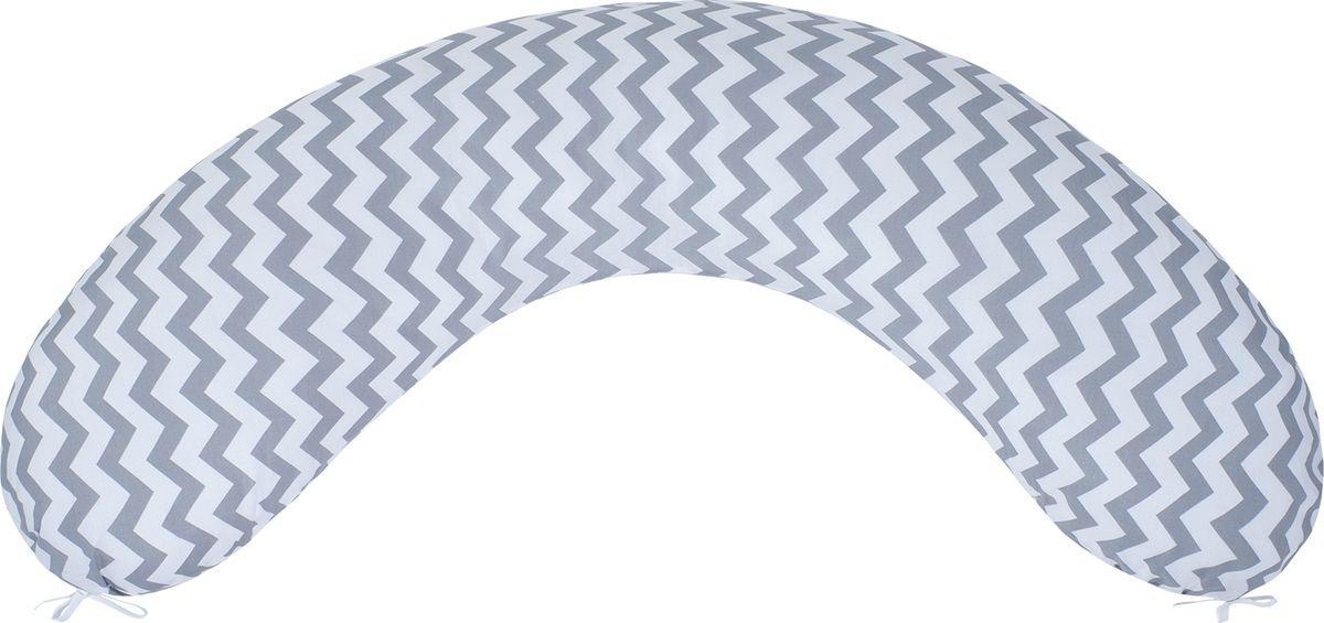 Чехол для подушки беременных AmaroBaby Зигзаг, AMARO-5001-ZS, серый, 170 х 25 см