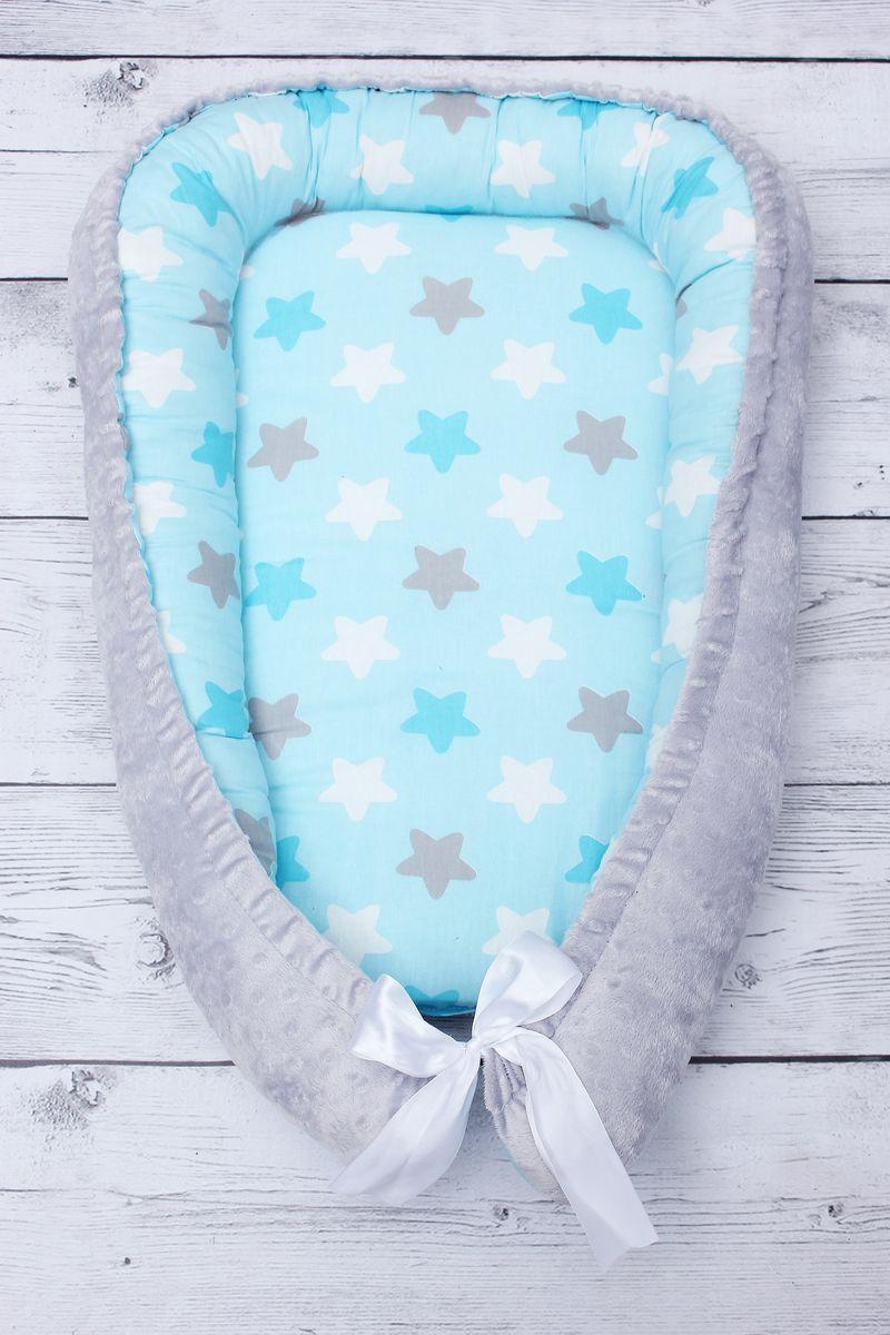 позиционеры для сна Подушка-позиционер для сна AmaroBaby Prestige Baby. Небо в звездах, кокон-гнездышко