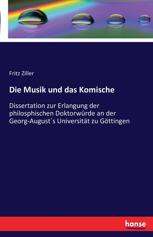 Fritz Ziller Die Musik und das Komische