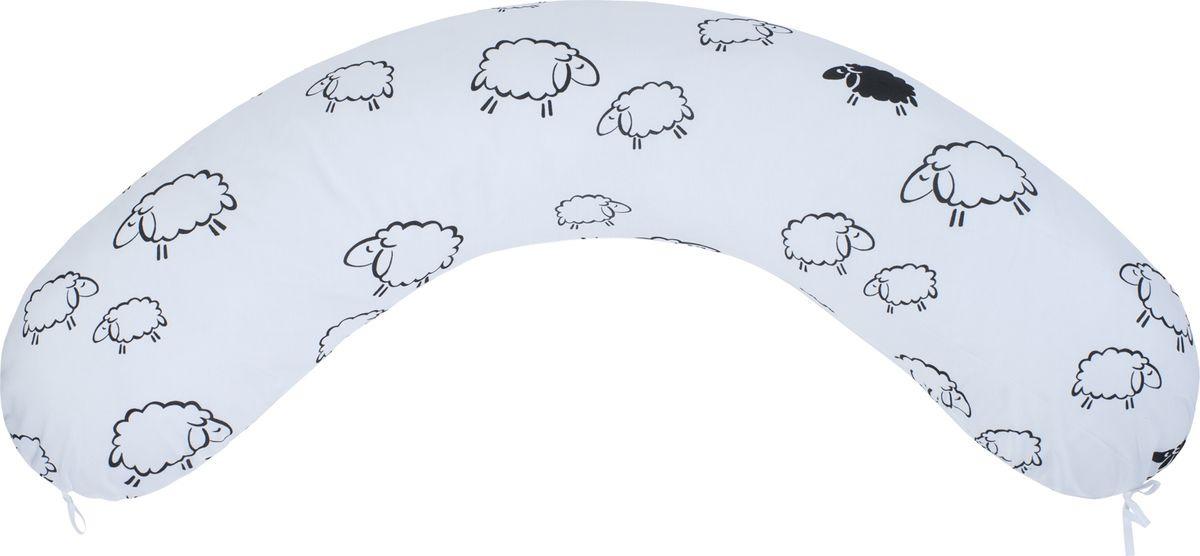 Подушка для кормящих и беременных AmaroBaby, AMARO-4001-O, белый, 170 х 25 см