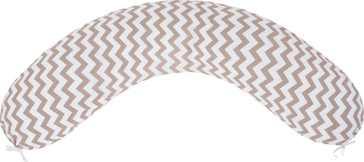 Подушка для кормящих и беременных AmaroBaby, AMARO-4001-ZK, темно-бежевый, 170 х 25 см