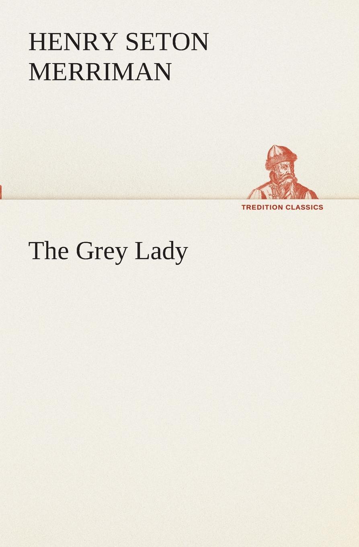 Henry Seton Merriman The Grey Lady grey floral print off the shoulder tigh waist midi dress
