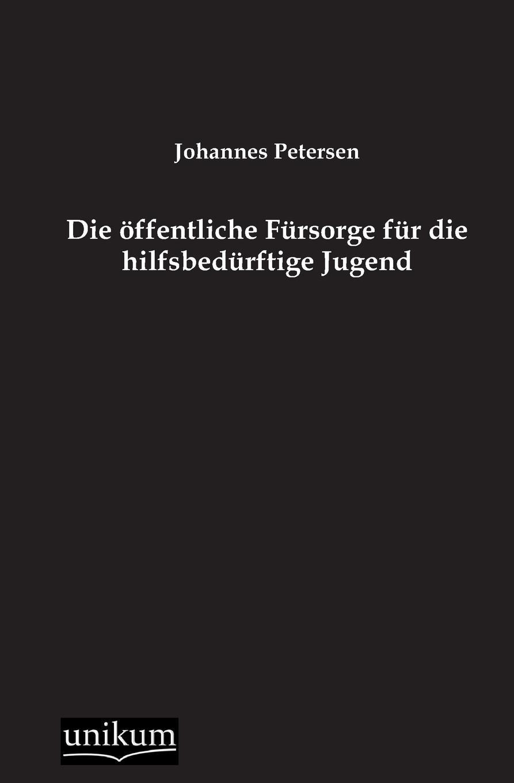 Johannes Petersen Die Offentliche Fursorge Fur Die Hilfsbedurftige Jugend недорого