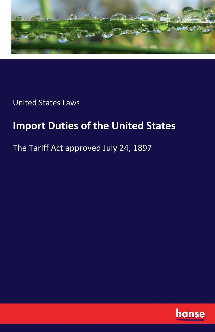 United States Laws Import Duties of the United States [zob] the united states cmc 3318 186 servo 8923 barab00 w1 import switch