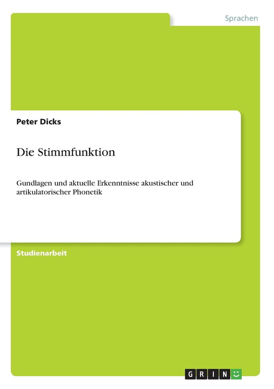 Peter Dicks Die Stimmfunktion kasalla aachen