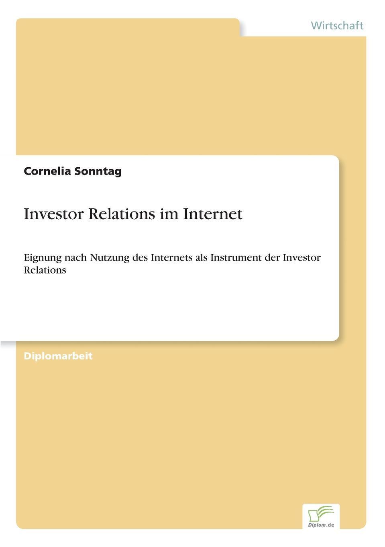 Cornelia Sonntag Investor Relations im Internet