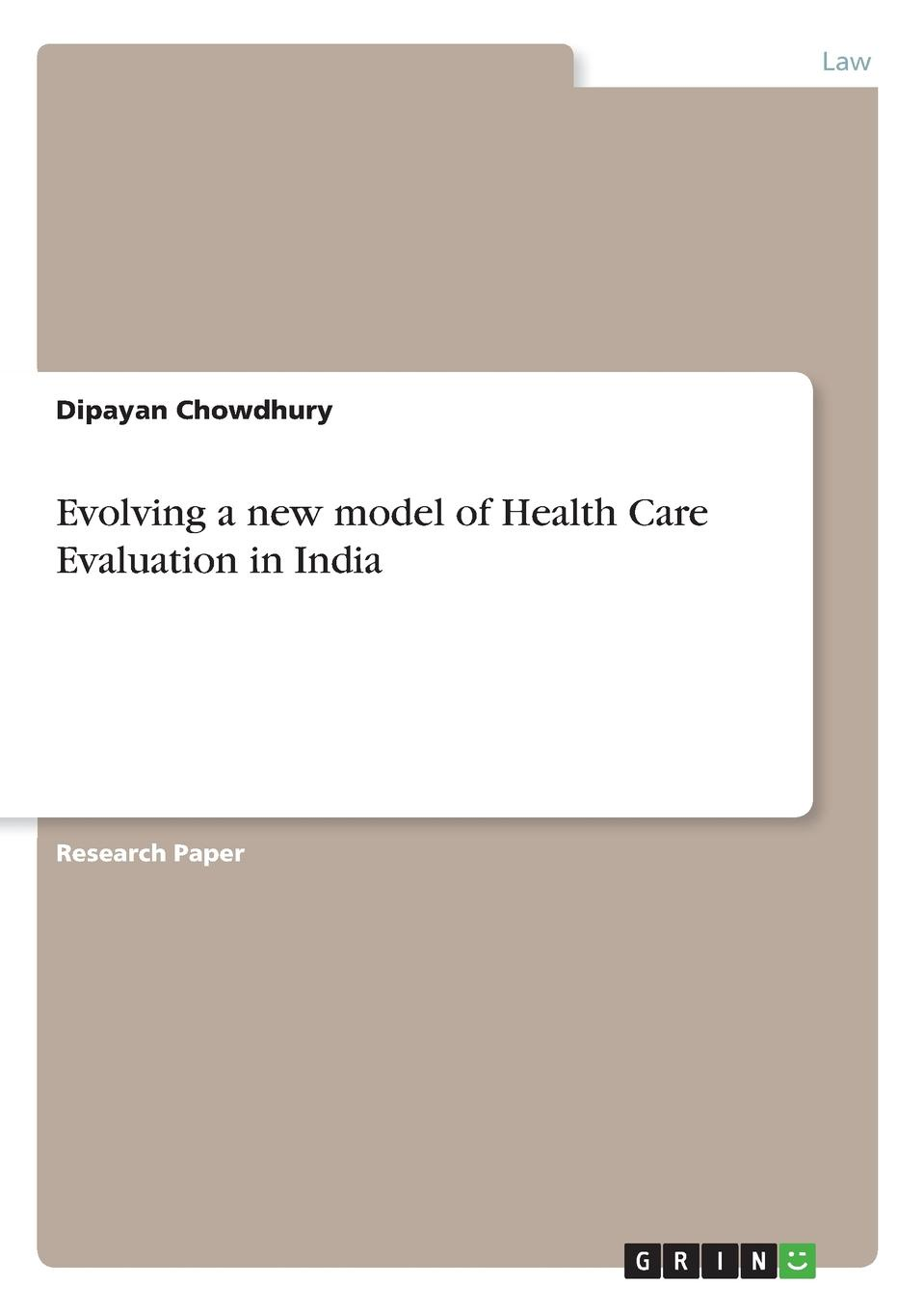 Dipayan Chowdhury Evolving a new model of Health Care Evaluation in India захарова л и international sports law textbook