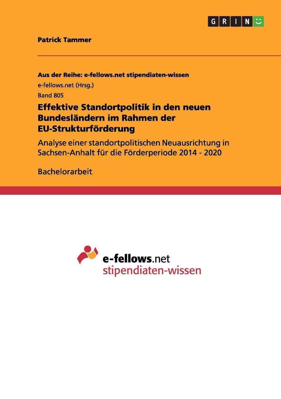 Patrick Tammer Effektive Standortpolitik in den neuen Bundeslandern im Rahmen der EU-Strukturforderung sasa mitrovic die privatisierung der wasserversorgung der dritten welt eine effektive strategie moderner entwicklungshilfe